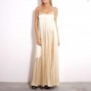 #002 Длинное песочное платье.